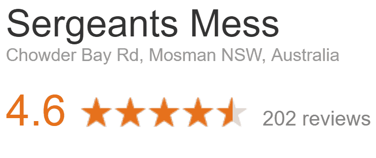 Sergeants Mess Review Google